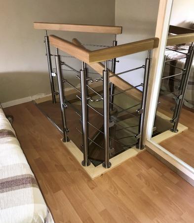 Création de la trémie et pose d'un escalier bois métal