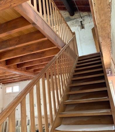 Escalier chêne volée droite