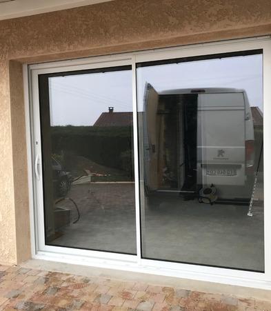 Installation baie vitrée PVC